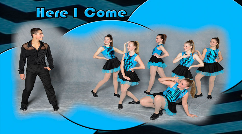 Here I Come dance class posing